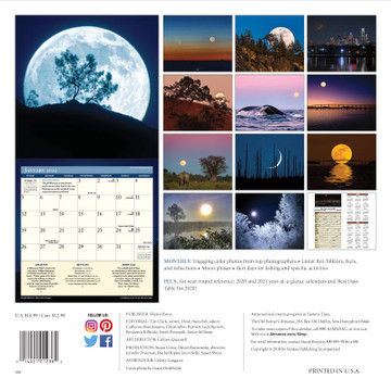 The 2020 Old Farmer's Almanac Moon Calendar