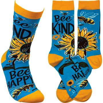Socks - Bee Kind Bee Happy