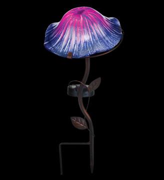 Lava Mushroom Solar Stake - Purple