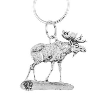 Moose Pewter Keyring