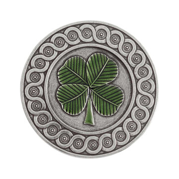 Green Clover Purse Mirror