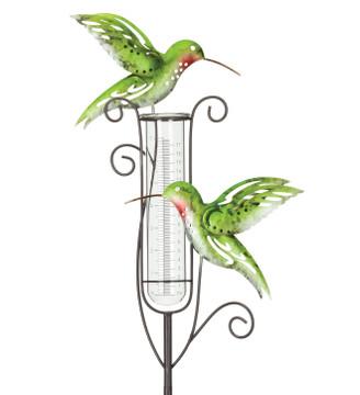 Capri Rain Gauge Stake - Hummingbird