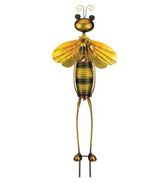 Bottle Bug Solar Stake - Bee