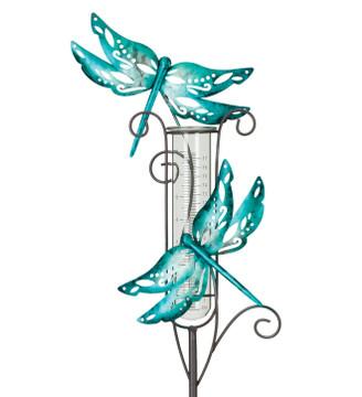 Capri Rain Gauge Stake - Dragonfly