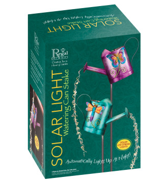 Watering Can Solar Stake - Dragonfly