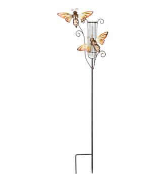 Capri Rain Gauge Stake - Bee