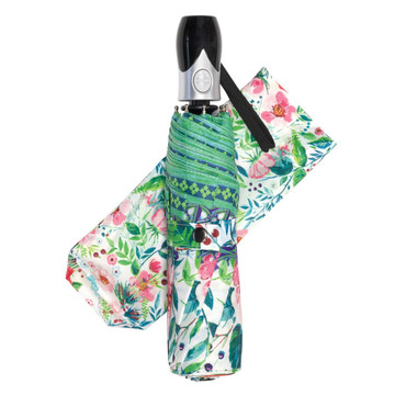 Wild Berry Blossom Travel Umbrella