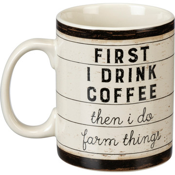 Jumbo Mug - First Coffee Then I Do Farm Things