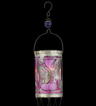 Solar Lantern Wind Chime - Butterfly