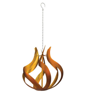 Hanging Wind Spinner - Copper Flame