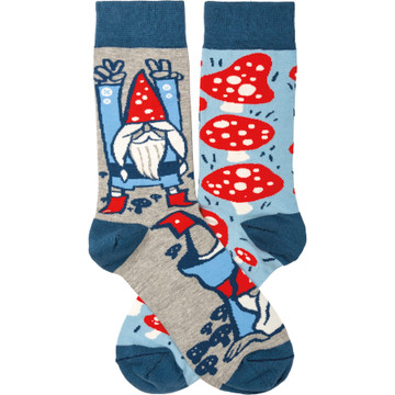 Socks - Gnomes and Mushrooms