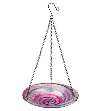 "9"" Hanging Bird Feeder - Swirl"