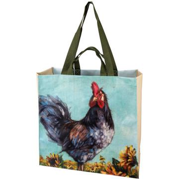 Market tote, chicken side