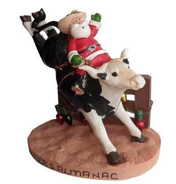 Santa on Rodeo Bull