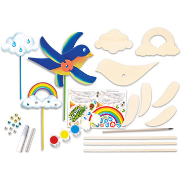 Build and paint kit pieces in kit