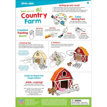 Paint kit instruction sheet for country farm