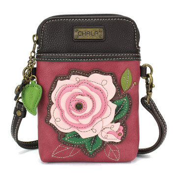 Cell phone purse, Pink Flower