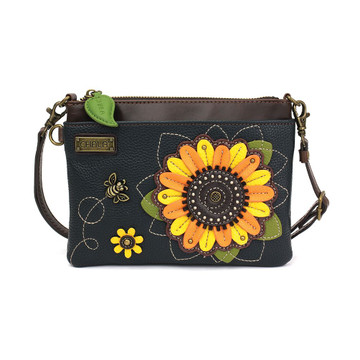 Mini purse with sunflower