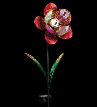 Mystic Flower Solar Stake - Pink
