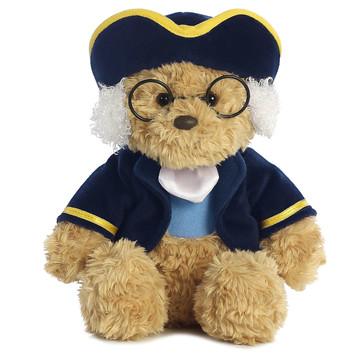 Ben Franklin bear plush toy front view