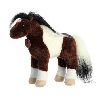 painted horse plush toy right side view