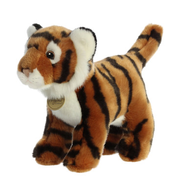 tiger plush toy right side view