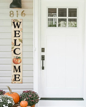 4 Foot Porch Board - Fall Pumpkin