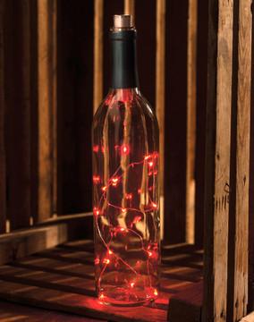 Wine Bottle Lights - Red