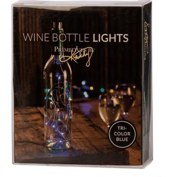 Wine Bottle Lights - Tri Color Blue