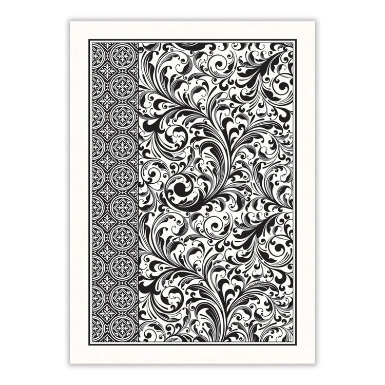 Black Florentine Kitchen Towel