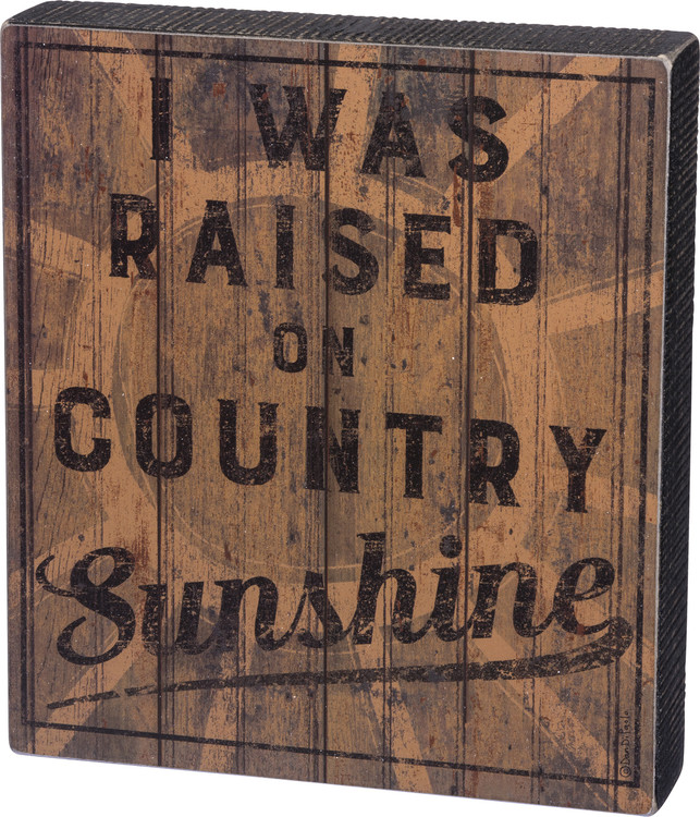 Box Sign - Country Sunshine