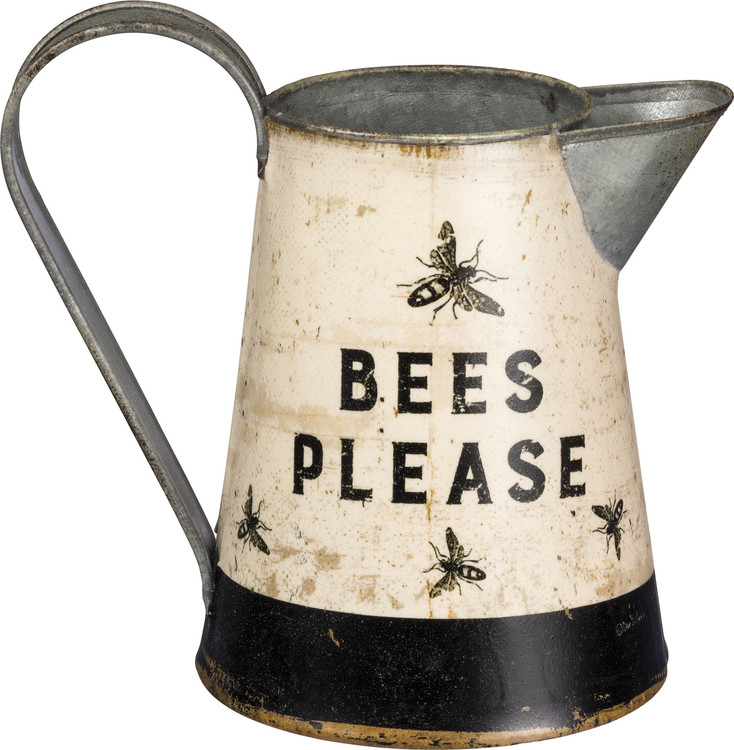 Bees Please Decorative Water Pitcher