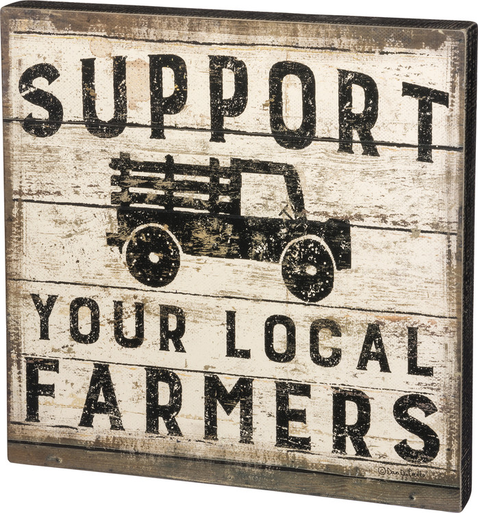 Box Sign - Support Farmers