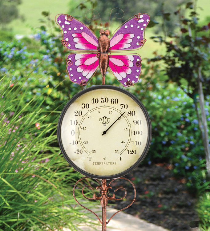 Thermometer Stake - Butterfly