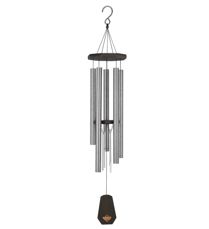 "Echo Double Chime 40"" Pewter"