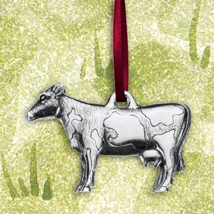Cow Pewter Ornament