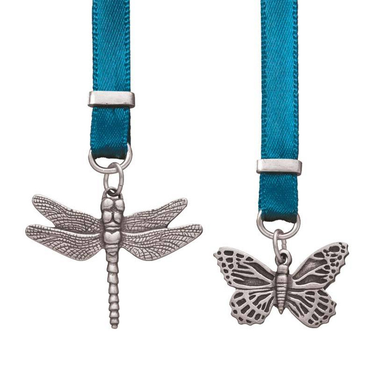 Bugs Pewter and Ribbon Bookmark
