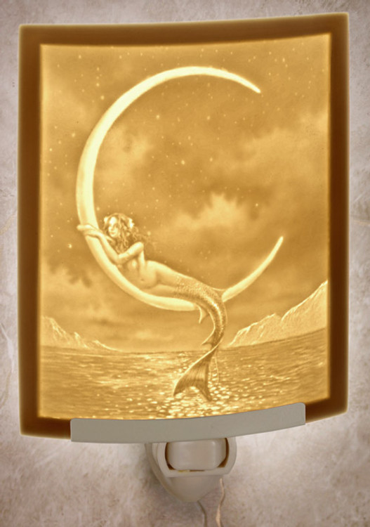 Lithophane Night Light - Mermaid & Moon