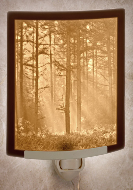 Lithophane Night Light - Woodland Sunbeams