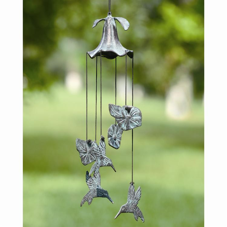 Morning Glory & Hummingbird Wind Chime
