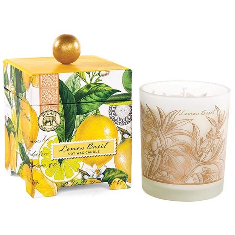 Lemon Basil 14 oz. Soy Wax Candle