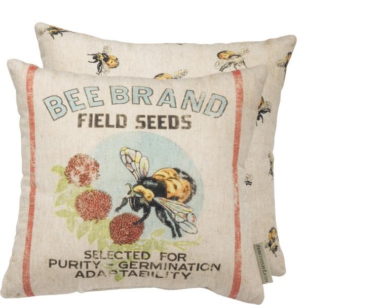 Feed Sack Pillow - Bee Brand