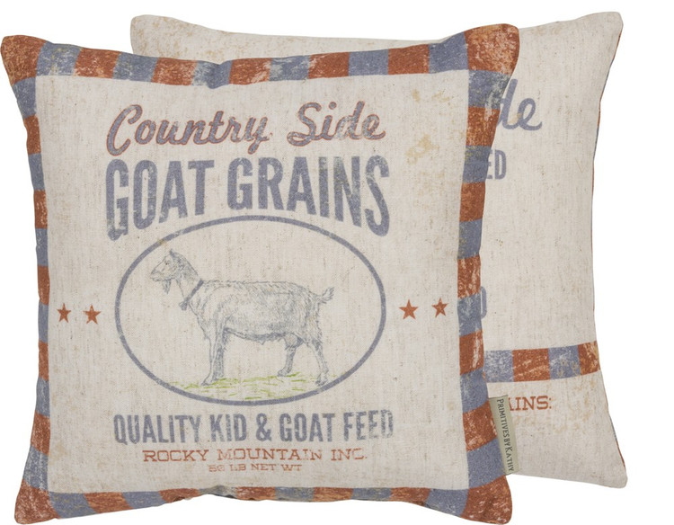 Feed Sack Pillow - Country Side