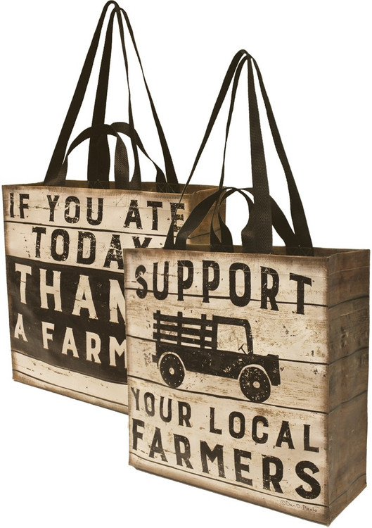 Farmers' Market Nylon Tote - Thank a Farmer