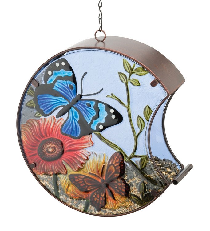 Hand-Painted Bird Feeder - Butterfly