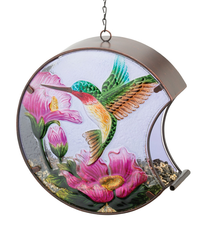 Hand-Painted Bird Feeder - Hummingbird