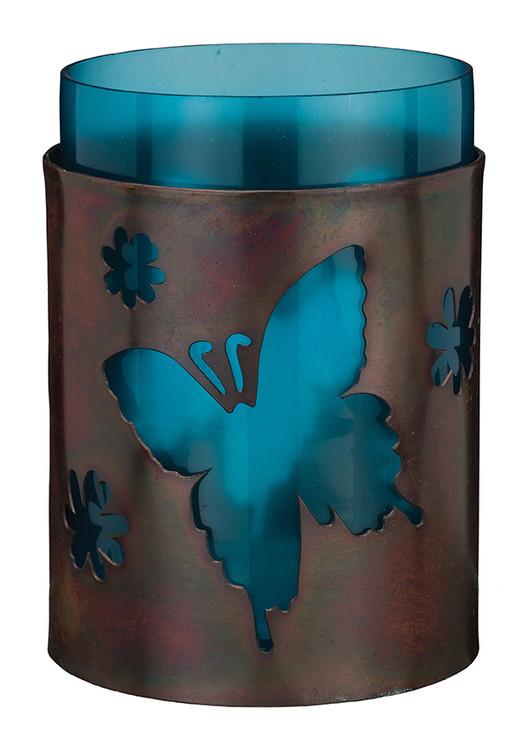 Bronze Candleholder - Butterfly