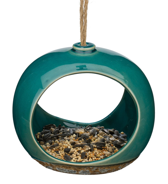Ceramic Bird Feeder - Small Drop
