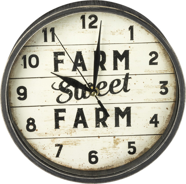Clock - Farm Sweet Farm