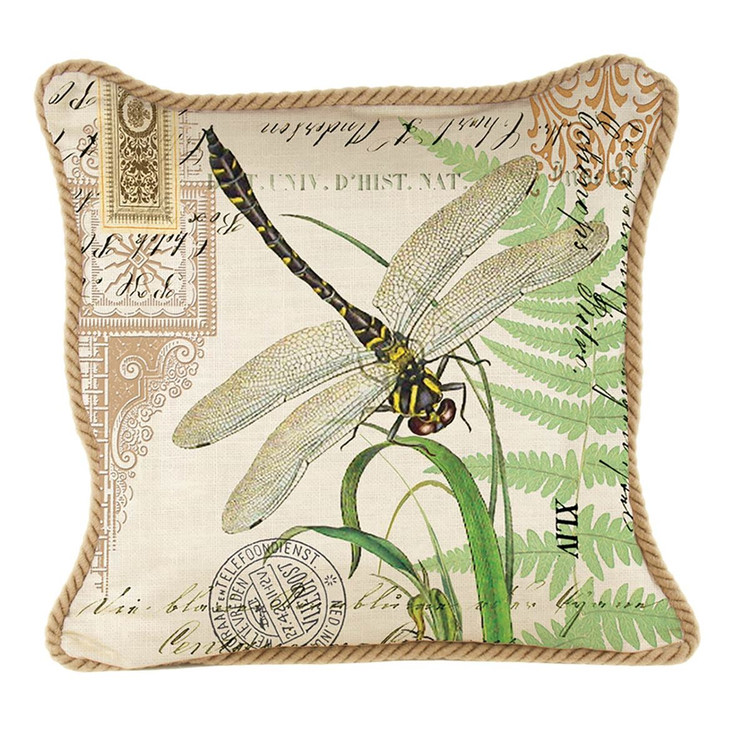 Dragonfly Kingdom Square Pillow